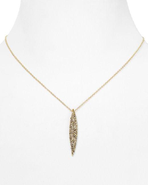 "Alexis Bittar | Metallic Miss Havisham Crystal Encrusted Spear Pendant Necklace, 16"" | Lyst"