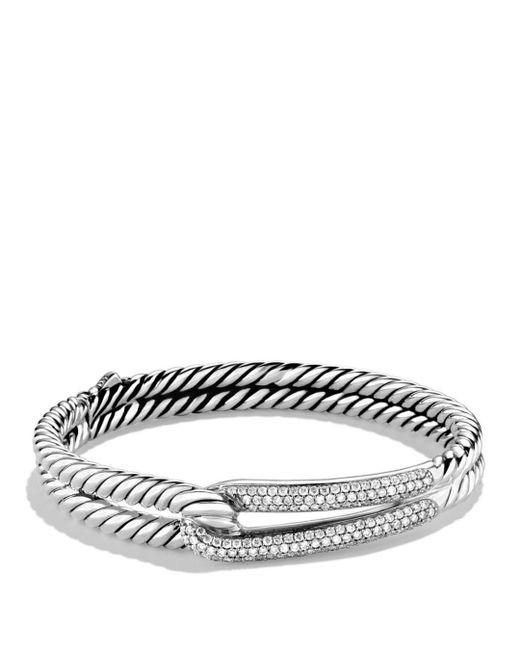 David Yurman - Metallic Labyrinth Single-loop Bracelet With Diamonds - Lyst