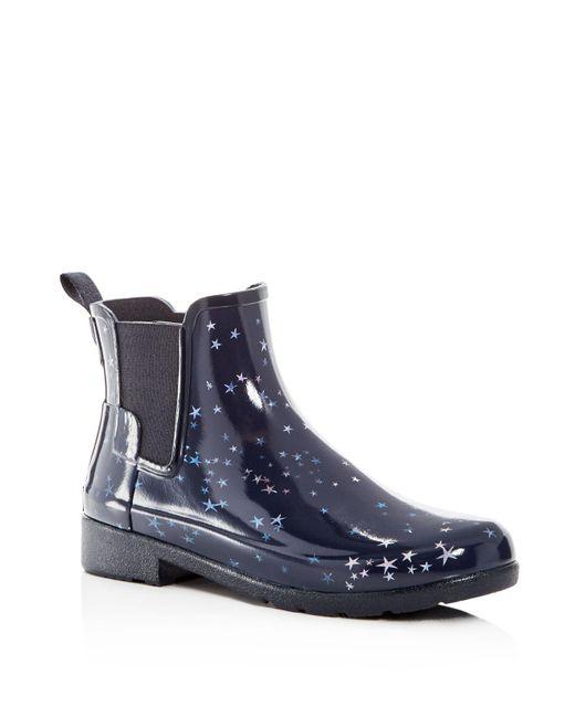 Hunter | Blue Women's Refined Constellation Print Rain Boots | Lyst