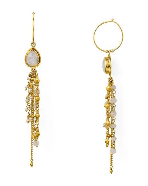 Chan Luu - Metallic Cultured Freshwater Pearl Linear Drop Earrings - Lyst