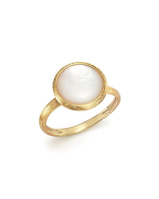 Marco Bicego | Metallic 18k Yellow Gold Jaipur Ring With Mother-of-pearl | Lyst