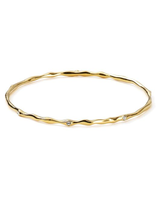 Nadri | Metallic Thin Cz Bangle | Lyst
