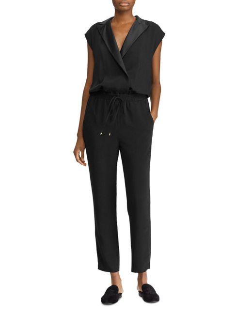 Ralph Lauren - Black Lauren Tuxedo Jumpsuit - Lyst