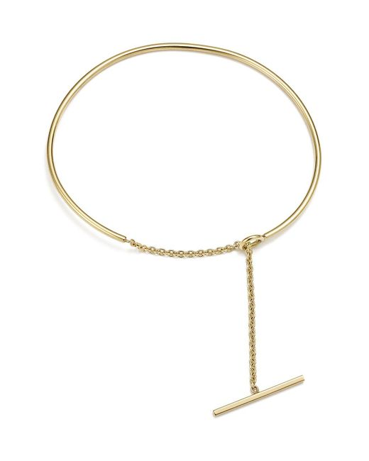 Zoe Chicco | Metallic 14k Yellow Gold Wire And Toggle Chain Cuff | Lyst