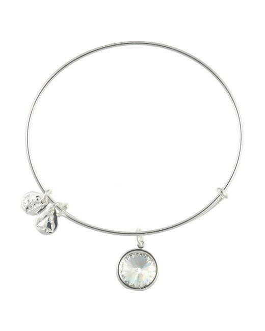 ALEX AND ANI | Metallic April Crystal Birthstone Bangle | Lyst