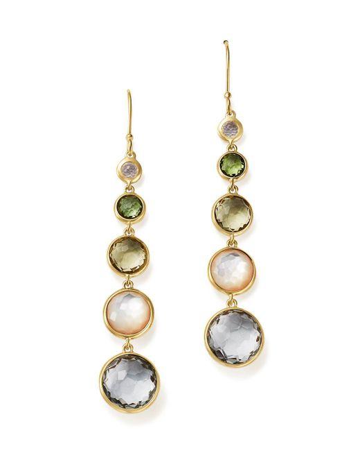 Ippolita   Metallic 18k Gold Rock Candy Lollitini Earrings In Cool Multi Colors   Lyst