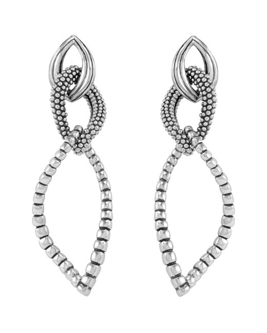 Lagos | Metallic Sterling Silver Fluted Caviar Bead Dangle Earrings | Lyst