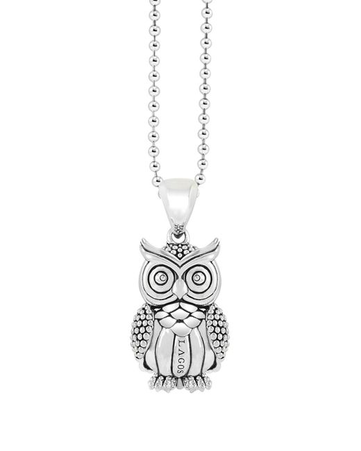 Lagos | Metallic Sterling Silver Rare Wonders Owl Pendant Necklace, 34"