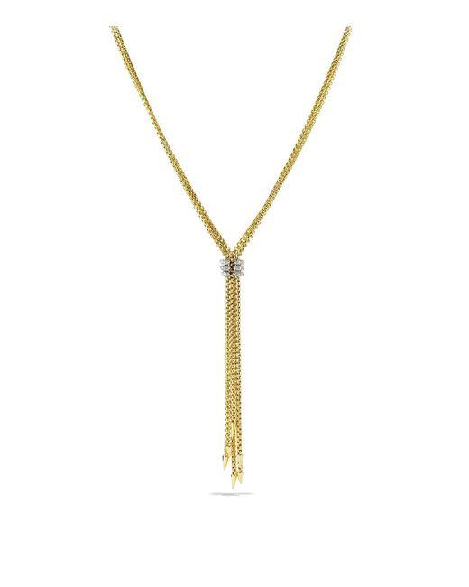 David Yurman - Metallic Willow Tassel Necklace With Diamonds In Gold - Lyst