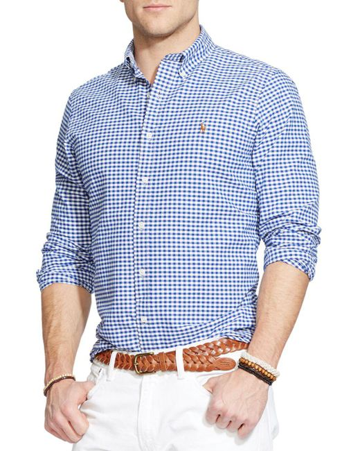 Polo Ralph Lauren - Blue Checked Oxford Button-down Shirt - Classic Fit for Men - Lyst