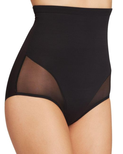 Tc Fine Intimates - Black Brief - Sheer High-waist #4225 - Lyst