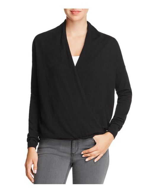 Joie | Black Lien Crossover-front Sweater | Lyst