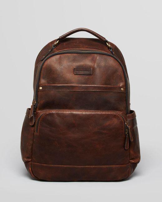Frye | Brown 'logan' Leather Backpack for Men | Lyst