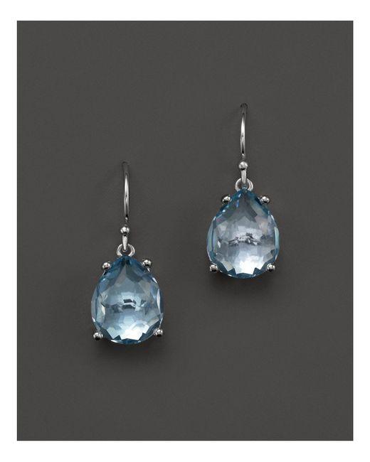 Ippolita - Sterling Silver Rock Candy® Pear Drop Earrings In Blue Topaz - Lyst