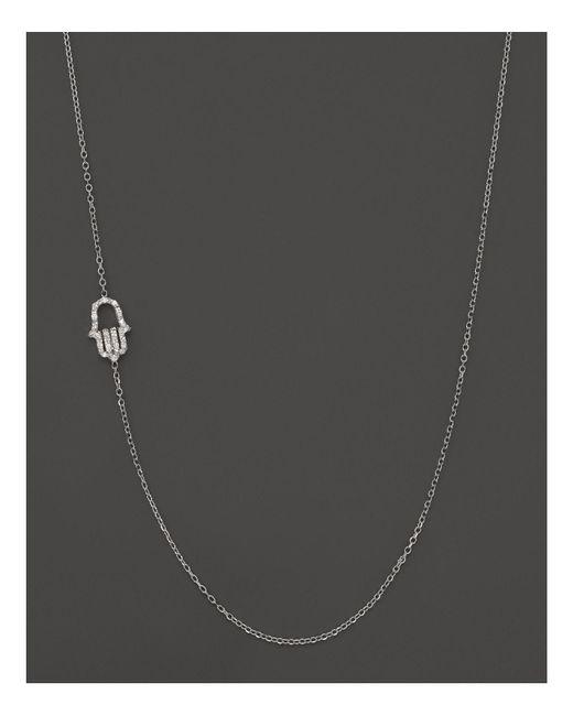 KC Designs - Diamond Hamsa Necklace In 14k White Gold, .07 Ct. T.w. - Lyst