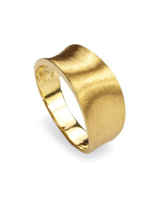 Marco Bicego - Metallic 18k Yellow Gold Engraved Lunaria Small Band Ring - Lyst