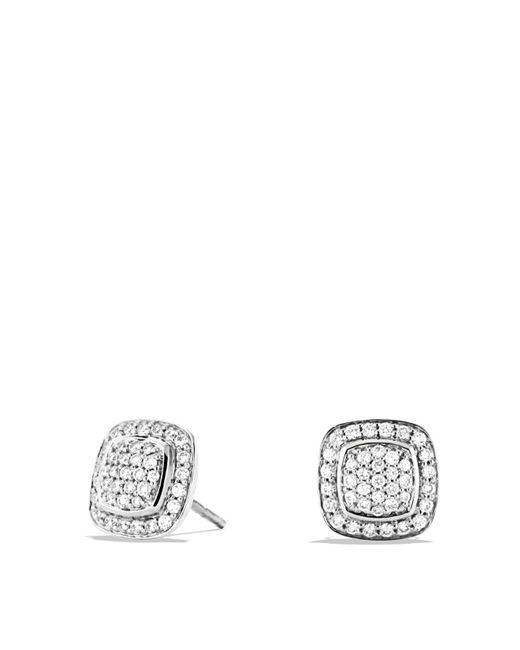 David Yurman | Metallic Albion Mini Earrings With Diamonds | Lyst
