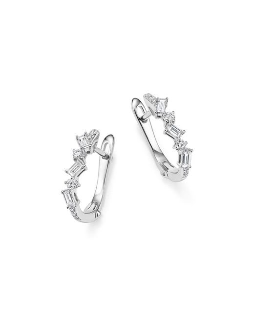 KC Designs | 14k White Gold Diamond Mosaic Hoop Earrings | Lyst