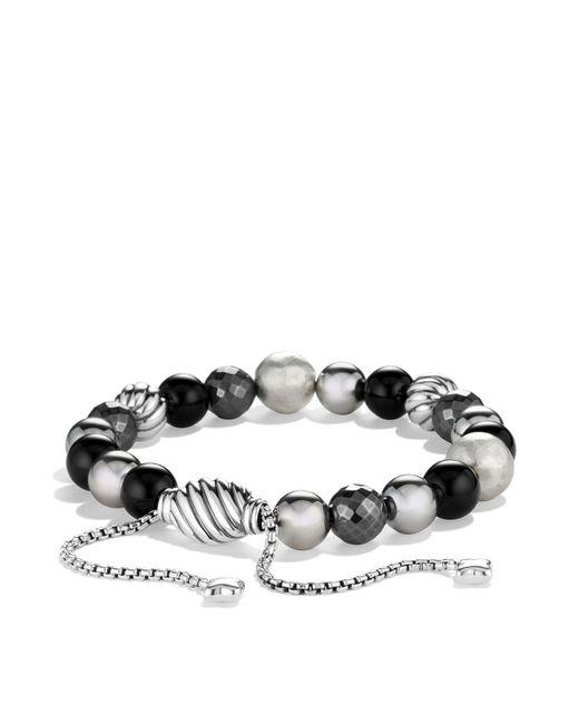 David Yurman - Metallic Dy Elements Bracelet With Black Onyx And Hematine - Lyst