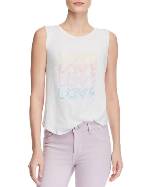 Generation Love - White Micky Love Graphic Tank - Lyst