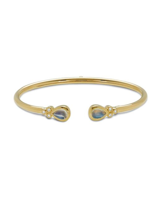 Temple St. Clair   Metallic 18k Yellow Gold Bellina Bracelet With Royal Blue Moonstone And Diamonds   Lyst