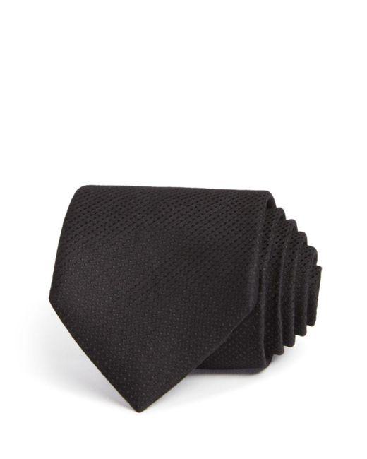 John Varvatos - Black Textured Solid Classic Tie for Men - Lyst
