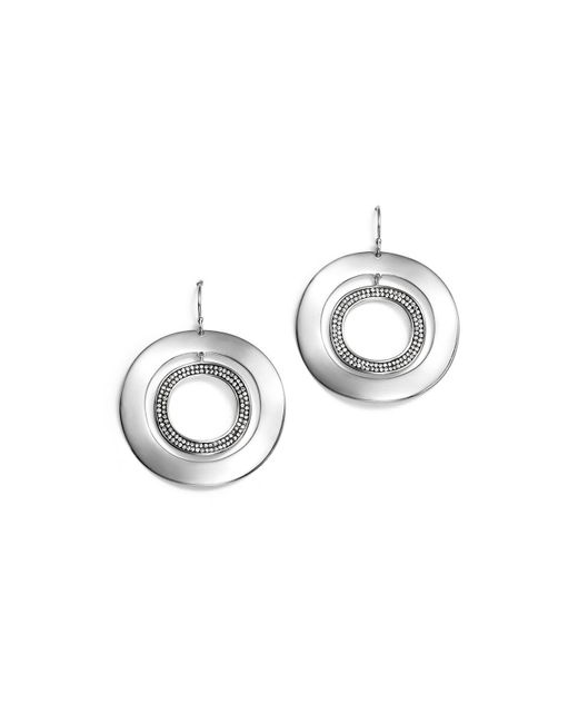 Ippolita | Metallic Sterling Silver Glamazon® Stardust Open Disc Pavé Diamond Drop Earrings | Lyst