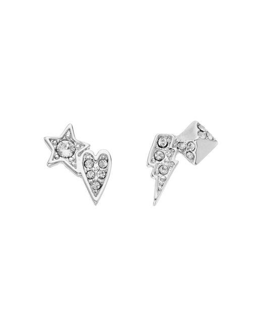 Karl Lagerfeld Metallic Mini Rocky Multi - Charm Earrings