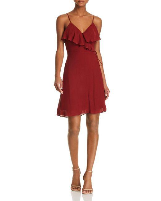 Bailey 44 - Red Peppercorn Faux-wrap Dress - Lyst