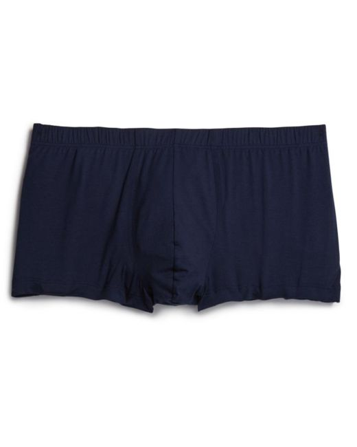 Hanro Blue Cotton Superior Boxer Briefs for men