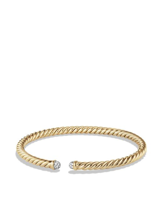 David Yurman - Metallic Precious Cable Cablespira Bracelet With Diamonds In Gold - Lyst