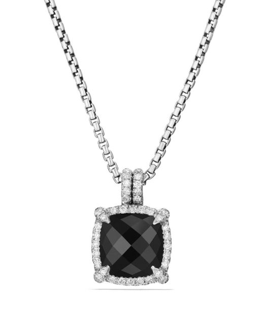 David Yurman - Metallic Châtelaine Pavé Bezel Pendant Necklace With Black Onyx And Diamonds - Lyst
