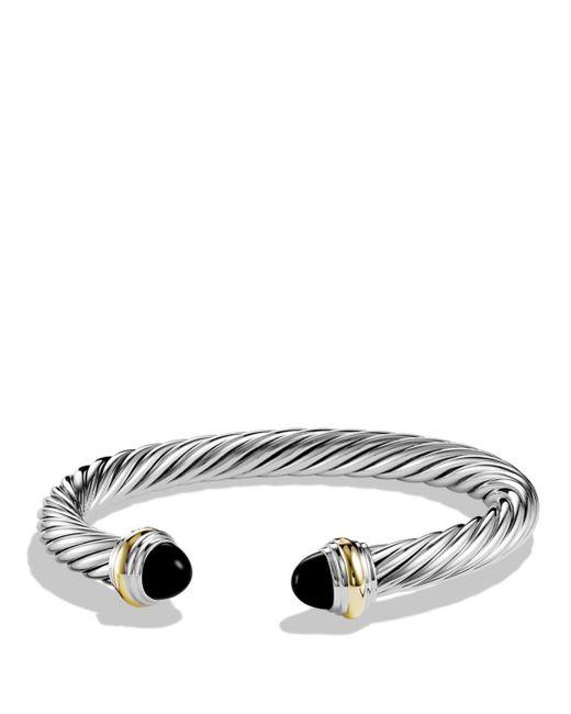 David Yurman - Metallic Cable Classics Bracelet With Black Onyx And Gold - Lyst