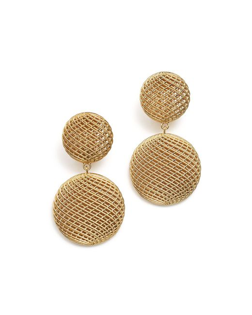 Roberto Coin | Metallic 18k Yellow Gold Silk Drop Earrings | Lyst