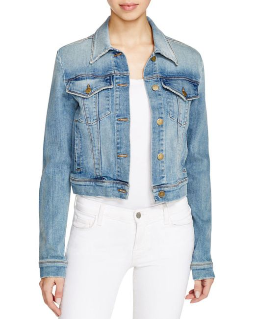 J Brand - Blue Harlow Trucker Denim Jacket In Surface - Lyst