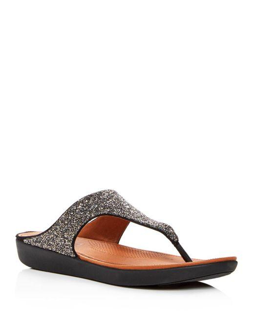 37a9c4d71c284f Fitflop - Black Women s Banda Ii Quartz Embellished Platform Flip-flops ...