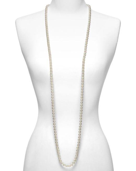 Majorica Women's 8mm Round White Simulated Pearl Endless Necklace