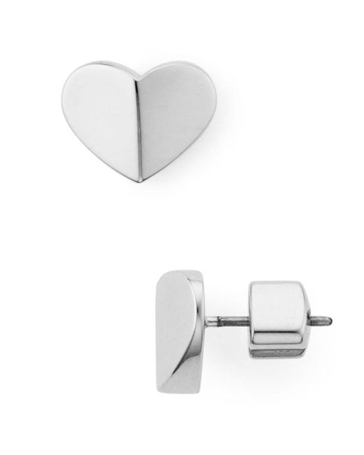 Kate Spade Metallic Small Heart Stud Earrings