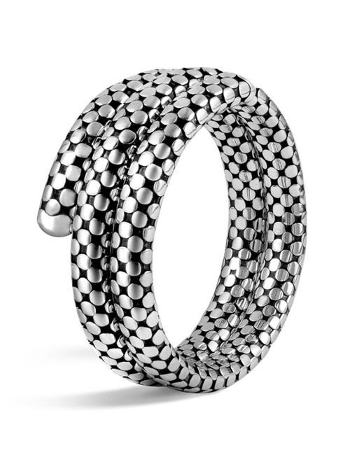 John Hardy - Metallic Sterling Silver Dot Double Coil Bracelet - Lyst