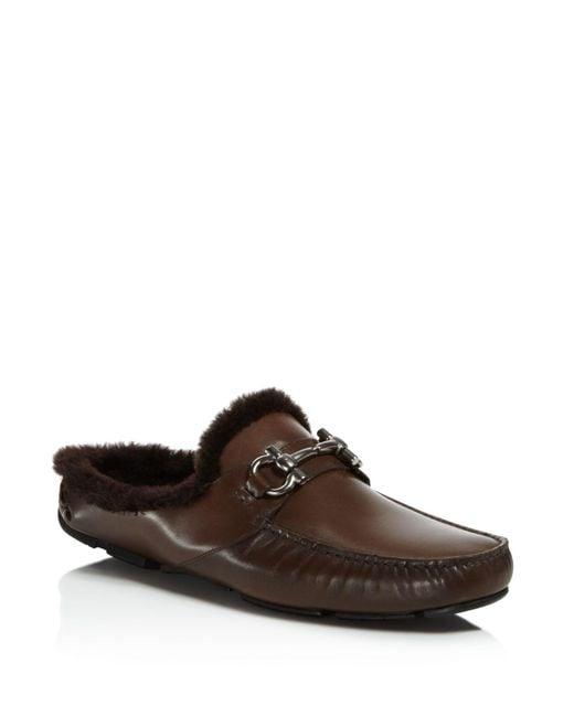 Ferragamo | Brown Duca Loafers for Men | Lyst