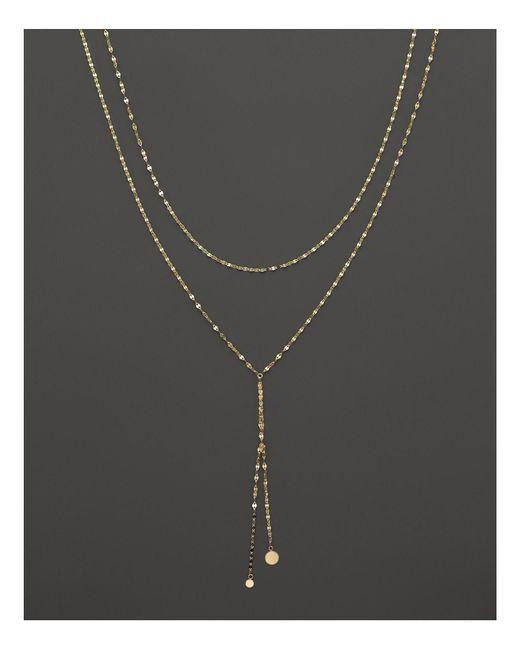 "Lana Jewelry | Metallic 14k Yellow Gold Blake Petite Necklace, 18"" | Lyst"