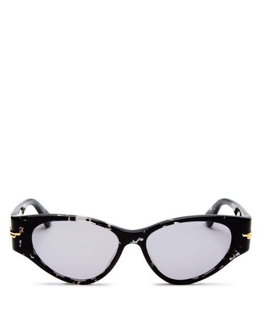 Bottega Veneta Black Cat Eye Sunglasses