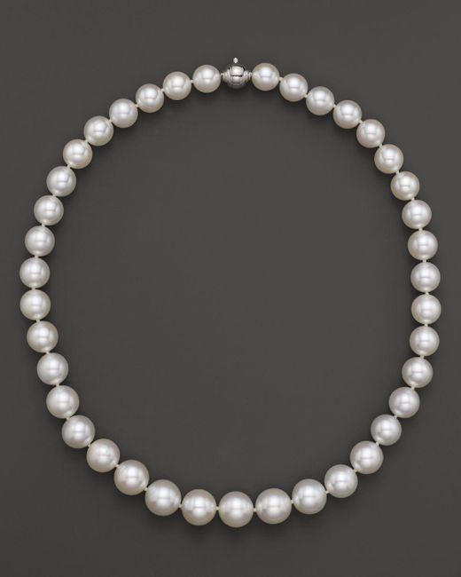 Tara Pearls | White South Sea Cultured Pearl Strand Necklace, 17"