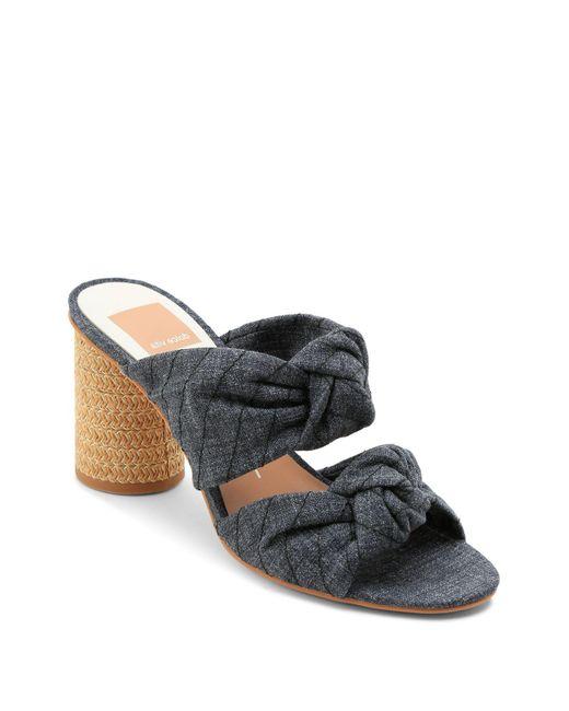 Dolce Vita - Multicolor Women's Jene Knotted Block Heel Slide Sandals - Lyst
