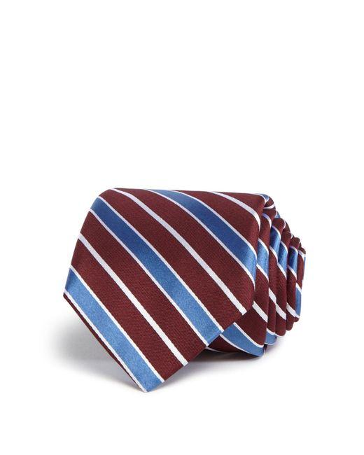 W.r.k.   Blue Wide Stripe Classic Tie for Men   Lyst