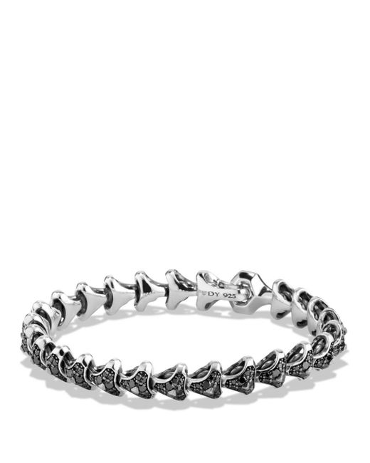 David Yurman - Metallic Armory Single Row Link Bracelet With Black Diamonds for Men - Lyst