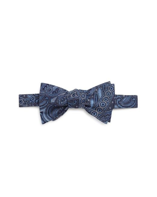 Bloomingdale's - Blue Paisley Bow Tie for Men - Lyst