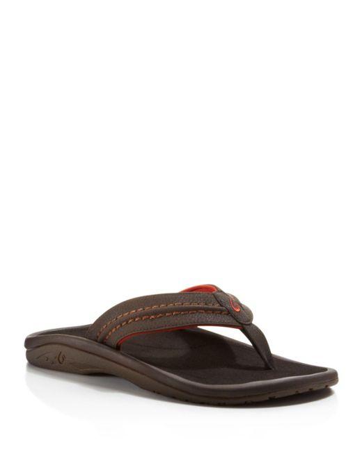 Olukai Red Men's Hokua Flip - Flops for men