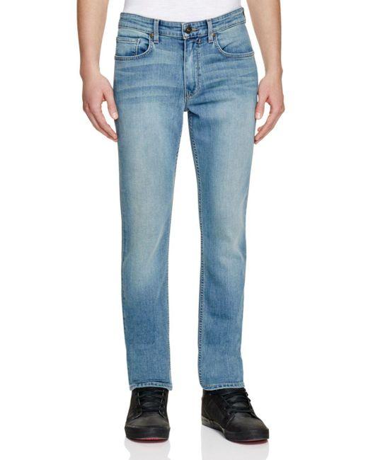 PAIGE Blue Lennox Super Slim Fit Jeans In Liam for men