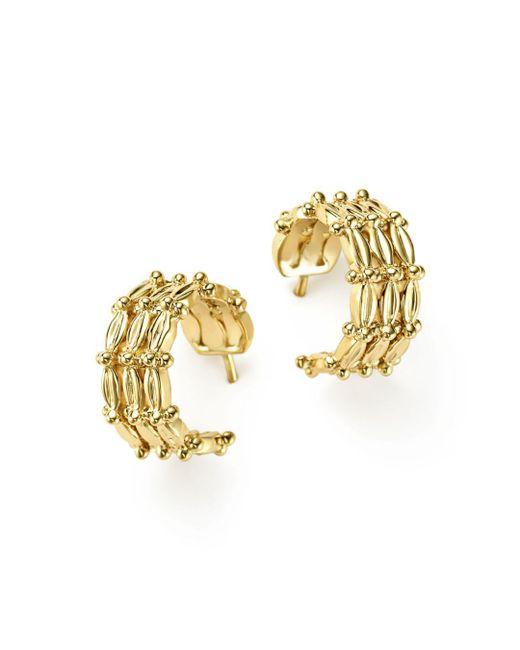 Temple St. Clair - Metallic 18k Yellow Gold Vigna Hoop Earrings - Lyst